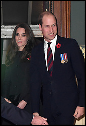 November 12, 2016 - London, United Kingdom - Image ©Licensed to i-Images Picture Agency. 12/11/2016. London, United Kingdom. Royal Festival of Remembrance. ...The Duke and Duchess of Cambridge arrive at the annual Royal Festival of Remembrance at the Royal Albert Hall in London...Picture by  i-Images / Pool (Credit Image: © i-Images via ZUMA Wire)