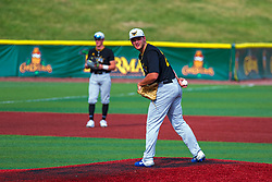 16 July 2020: Nathan Hardman during a Kernel League Baseball game between the Bobcats and the Hoots at Corn Crib Stadium on the campus of Heartland Community College in Normal Illinois