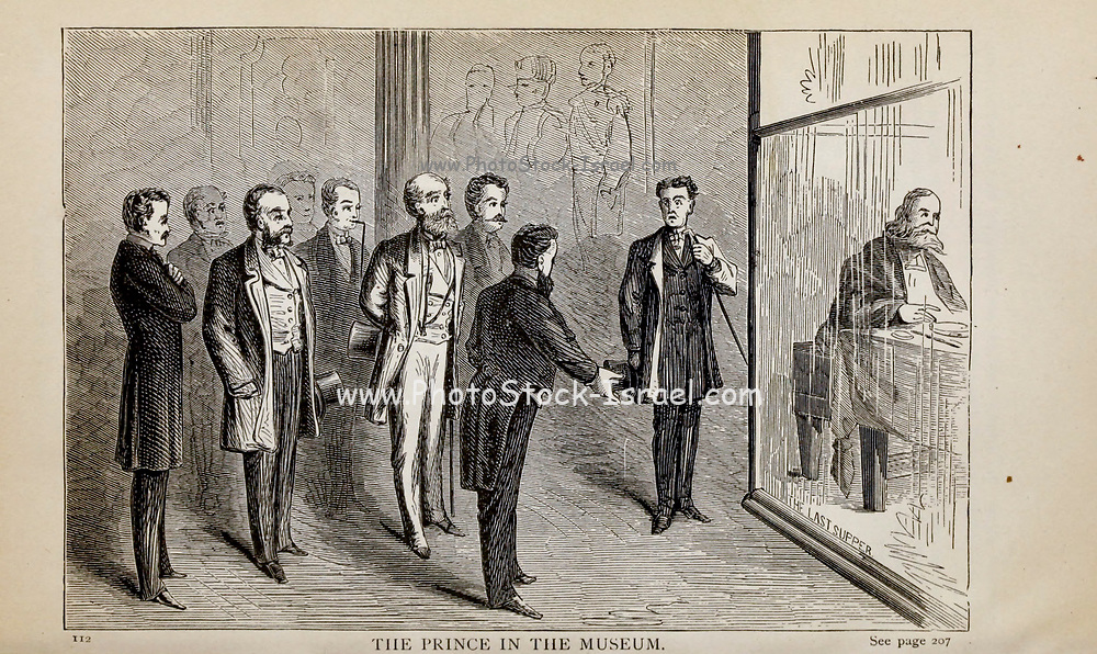 THE PRINCE IN THE MUSEUM, From the autobiographical Book ' Struggles and triumphs; or, Forty years' recollections of P.T. Barnum ' By Barnum, P. T. (Phineas Taylor), 1810-1891 Published by The Courier Company Buffalo, N.Y. in 1879. Phineas Taylor Barnum (July 5, 1810 – April 7, 1891) was an American showman, politician, and businessman, remembered for promoting celebrated hoaxes and for founding the Barnum & Bailey Circus (1871–2017). He was also an author, publisher, and philanthropist,