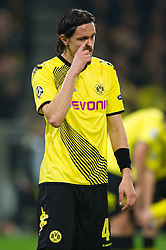 01.11.2011, Signal Iduna Park, Dortmund, GER, UEFA Champions League, Vorrunde, Borussia Dortmund (GER) vs Olympiacos Piraeus (GRE), im Bild Neven Subotic (#4 Dortmund) // during Borussia Dortmund (GER) vs Olympiacos Piraeus (GRE) at Signal Iduna Park, Dortmund, GER, 2011-11-01. EXPA Pictures © 2011, PhotoCredit: EXPA/ nph/  Kurth       ****** out of GER / CRO  / BEL ******