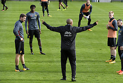 October 4, 2017 - Tubize, Belgique - TUBIZE, BELGIUM - OCTOBER 4 : Thierry Henry ass. coach of Belgian Team during a  training session of the National Soccer Team of Belgium prior to the World Cup 2018 qualification games against Bosnia and Herzegovina and Cyprus at the Belgian Football center on October 04, 2017 in Tubize, Belgium, 4/10/2017 (Credit Image: © Panoramic via ZUMA Press)
