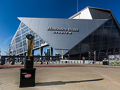 College Football Playoff Trophy outside MB Stadium