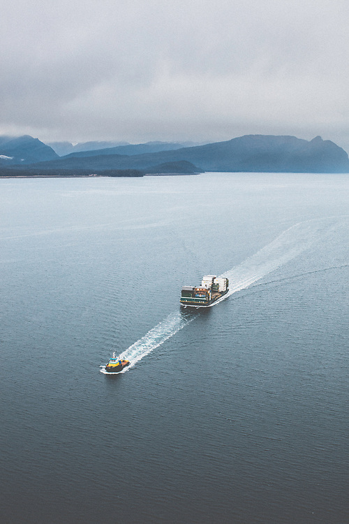 Western Tow Boat run supplies year round from Seattle to South Eastern Alaskian ports. Supplies can indluded everything from food to school busses.