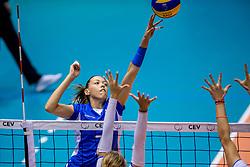 23-08-2017 NED: World Qualifications Greece - Slovenia, Rotterdam<br /> SloveniÎ wint met 3-0 / Georgia Lamprousi #7 of Greece<br /> Photo by Ronald Hoogendoorn / Sportida