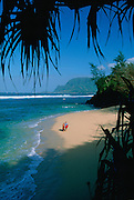 Secret Beach, Princeville, Hanalei, Kauai, Hawaii<br />
