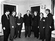 President Eamon de Valera recieves Ford Fellowship students at Áras an Uachtarian..25.08.1961