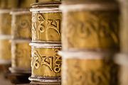 Prayer wheels at Chemrey Monastery, Ladakh, India