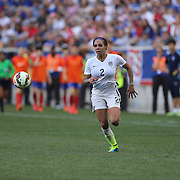 Sydney Leroux, U.S. Women's National Team in action during the U.S. Women's National Team Vs Korean Republic, International Soccer Friendly in preparation for the FIFA Women's World Cup Canada 2015. Red Bull Arena, Harrison, New Jersey. USA. 30th May 2015. Photo Tim Clayton