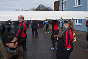 Hammersmith. London. United Kingdom,  Hammersmith. London.  General View, crews boating from the Furnivall SC, Pontoon 2018 Men's Head of the River Race.  Championship Course, River Thames, 2018 Men's Head of the River Race. , Championship Course, Putney to Mortlake. River Thames, <br /> <br /> Sunday   11/03/2018<br /> <br /> [Mandatory Credit:Peter SPURRIER Intersport Images]<br /> <br /> LEICA CAMERA AG  LEICA Q (Typ 116)  1/640 sec. 28 mm f.8 200 ISO.  42.3MB