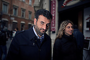 Antonio Decaro, arriving at Democratic Party headquarters. Rome, 16 january 2014. Christian Mantuano / OneShot