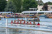 Henley on Thames, England, United Kingdom, Wednesday, 03.07.19, St. Paul's School, Concord, U.S.A., in their Heat, of the Princess Elizabeth Challenge Cup, Henley Royal Regatta,  Henley Reach, [©Karon PHILLIPS/Intersport Images]<br /> <br /> 11:46:25 1919 - 2019, Royal Henley Peace Regatta Centenary,