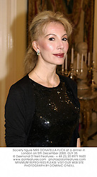 Society figure MRS DONATELLA FLICK at a dinner in London on 5th December 2000.OJY 35