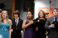Town of Wallkill, NY - Dress rehearsal for Monhagen Middle School production of Cabaret  on Nov. 6, 2008.