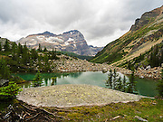 Victoria Lake on the Lake Oesa Trail with Mount Odoray in the background, in Yoho National Park, near Field, British Columbia, Canada