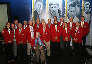 28 August 2006: The returning Hall of Famers pose with the new player inductees in a group shop. The National Soccer Hall of Fame Induction Ceremony was held at the National Soccer Hall of Fame in Oneonta, New York.