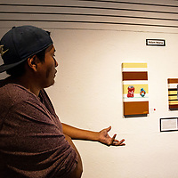 Adam Maria talks about how type two diabetes is plaguing the Navajo Nation and about his art work to bring awareness to it at Saturday night's art show.