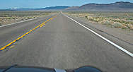 US 50 crosses the high desert in eastern Nevada panorama loneliest road in America, US 6 Great Basin Highway
