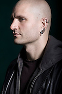 Award-winning English fiction writer China Mieville, pictured at the Edinburgh International Book Festival where he talked about his new book entitled 'The City and The City'. The three-week event is the world's biggest literary festival and is held during the annual Edinburgh Festival. The 2009 event featured talks and presentations by more than 500 authors from around the world.