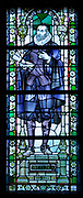Jan Pieterszoon Sweelinck 1562 – 1621. Dutch composer, organist, and pedagogue whose work straddled the end of the Renaissance and beginning of the Baroque eras.  depicted in a stained glass window at the Rijks Museum in Amsterdam, Holland.