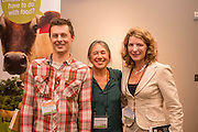 Eric Lee-Mader, Theresa Marquez, and Nina Telcholz at the Grass Up event in Portland, Oregon.