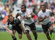 "Twickenham, Surrey United Kingdom.  action from the  Pool C. match, New Zealands vs Fiji, at the ""2017 HSBC London Rugby Sevens"",  Saturday 20/05/2017 RFU. Twickenham Stadium, England    <br /> <br /> [Mandatory Credit Peter SPURRIER/Intersport Images]"