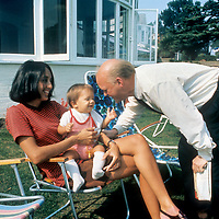 Joan Baez and son Gabe with Charles Everest.- .To be around Joan Baez was to be relaxed