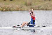 Eton, United Kingdom    GBR LM1X, Adam FREEMAN-PASK,  winning the men's lightweight  single Sculls, at the Sunday Final, 2012 GB Rowing Trials, Dorney Lake. Near Windsor Berks Sunday  11/03/2012  [Mandatory Credit; Peter Spurrier/Intersport-images]