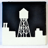 NEW YORK WATER TOWERS PAINTINGS H2O