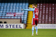 Scunthorpe United John McAtee (45) pointing, directing, signalling, gesture during the EFL Sky Bet League 2 match between Scunthorpe United and Bolton Wanderers at the Sands Venue Stadium, Scunthorpe, England on 24 November 2020.