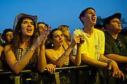 Fans look on during Suburbia Fest in Plano, Texas on May 3, 2014.
