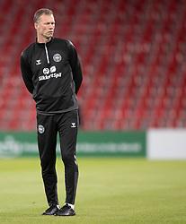 Assistenttræner Morten Wieghorst (Danmark) under opvarmningen til UEFA Nations League kampen mellem Danmark og Belgien den 5. september 2020 i Parken, København (Foto: Claus Birch).