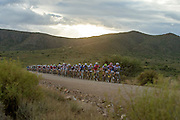 A line of riders early on during stage 3 of the 2014 Absa Cape Epic Mountain Bike stage race held from Arabella Wines in Robertson to The Oaks Estate in Greyton, South Africa on the 26 March 2014<br /> <br /> Photo by Greg Beadle/Cape Epic/SPORTZPICS