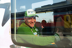 Goran Janus prior to the departure of a train Ljubljana - Jesenice where will be placed press conference of Slovenian Ski jumping team, on March 18, 2015 in Ljubljana train station, Slovenia. Photo by Vid Ponikvar / Sportida