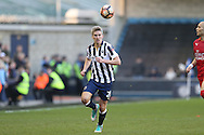 Steve Morison of Millwall in action. The Emirates FA Cup 5th round match, Millwall v Leicester City at The Den in London on Saturday 18th February 2017.<br /> pic by John Patrick Fletcher, Andrew Orchard sports photography.