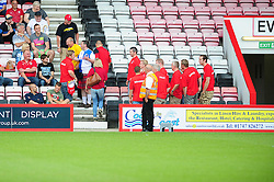 A fan dressed in a bristol rovers shirt enters the away stand at the Bournemouth game - Photo mandatory by-line: Dougie Allward/JMP - Tel: Mobile: 07966 386802 27/03/2013 - SPORT - FOOTBALL - Goldsands Stadium - Bournemouth -  Bournemouth V Bristol City - Pre Season friendly
