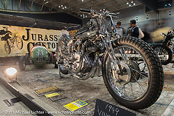 Shinsuke Takizawa's Jurassic Custom's Vincent at the Mooneyes Yokohama Hot Rod & Custom Show. Yokohama, Japan. December 6, 2015.  Photography ©2015 Michael Lichter.