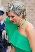 Aankomst van de koninklijke gasten op Paleis Het Loo voor het Diner.<br /> <br /> Arrival of the royal guests at Het Loo Palace for Dinner.<br /> <br /> Op de foto / On the photo: <br />  Koningin Maxima / Queen Maxima