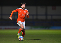 Blackpool's Oliver Turton<br /> <br /> Photographer Dave Howarth/CameraSport<br /> <br /> The EFL Sky Bet League One - Rochdale v Blackpool - Tuesday 20th April 2021 - Spotland Stadium - Rochdale<br /> <br /> World Copyright © 2021 CameraSport. All rights reserved. 43 Linden Ave. Countesthorpe. Leicester. England. LE8 5PG - Tel: +44 (0) 116 277 4147 - admin@camerasport.com - www.camerasport.com