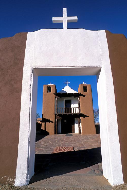 Morning light on San Geronimo Chapel, Taos Pueblo, New Mexico