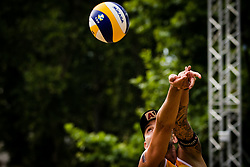 CLEMENS DOPPLER of Austria during Semifinals of Beach Volleyball World Tour in Ljubljana 2020, on August 2, 2020 in Kongresni trg, Ljubljana, Slovenia. Photo by Grega Valancic / Sportida