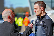 Oran Kearney St Mirren Manager givs an interview on his team selection ahead of the Ladbrokes Scottish Premiership match between St Mirren and Dundee at the Paisley 2021 Stadium, St Mirren, Scotland on 30 March 2019.