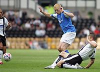 Photo: Paul Thomas. Derby County v Birmingham City, Pre season friendly, Pride Park, Derby. 23/07/2005. Mikael Forssell gets tackled by Mo Konjic.