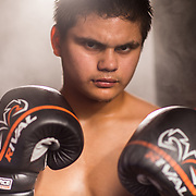 Damien Lopez at Grampas Boxing Gym in Westminster, California on April 5, 2017.  ©Michael Der/ALL RIGHTS RESERVED.  All Images are available for a Rights Managed License and available through this site.  For any licensing questions, please contact Michael Der directly.  <br />   <br /> My Work is model released and officially registered With The US Copyright Office. Please Observe Professional Courtesy and The Copyright Law and Obtain a License for Use if Needed. Infringement is a Serious Issue and I Employ All Efforts to Protect My Work. Thank You!
