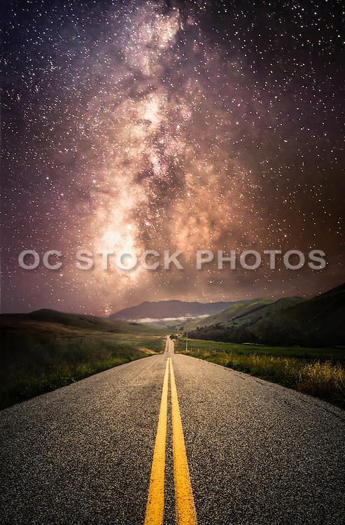 Milky Way Road Through San Luis Obispo County
