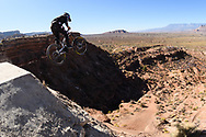 Cam Zink competes at the 2019 Red Bull Rampage in Virgin, UT. © Brett Wilhelm