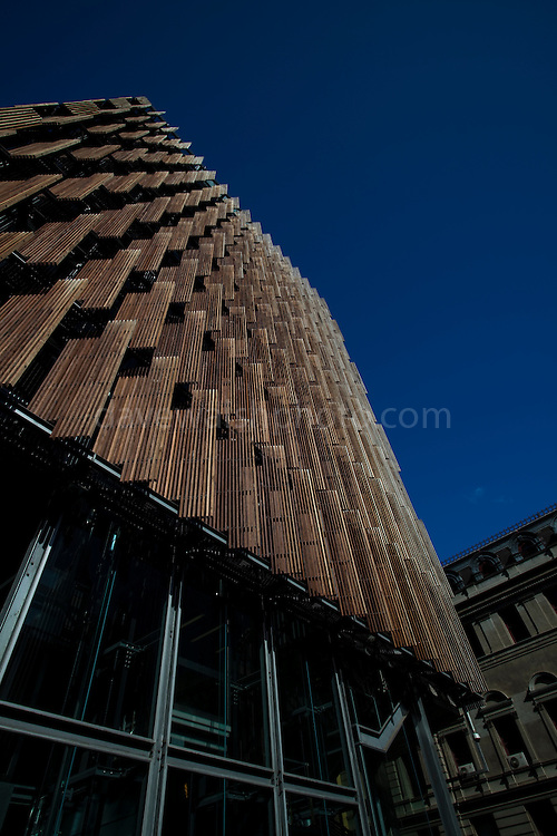 Council House 2, Swanston St. Melbourne, the first new commercial office building in Australia to meet and exceed the six star rating system administered by the Green Building Council of Australia. Editorial use only.