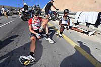 Arrival BOASSON HAGEN Edvald (NOR) Red Leader Jersey / KUDUS Merhawi (ERI) during the 7th Tour of Oman 2016 Cycling Tour, Stage 4, Knowledge Oasis Muscat - Jabal Al Akhdhar (Green Mountain) 1435m (177Km) on February 19, 2016 in Oman - Photo Tim De Waele / DPPI