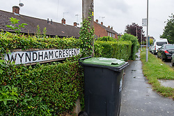 © Licensed to London News Pictures. 21/06/2021. Burnham, UK. A street sign on Wyndham Crescent in Burnham following the death of a man on Monday 20/06/2021. Emergency services were called at approximately 13:10BST to the Buckinghamshire street following reports of an altercation involving a group of men. Shortly after this a 35-year-old man collapsed. Thames Valley Police officers and paramedics attended the scene and performed CPR on the man but he was later pronounced dead. Photo credit: Peter Manning/LNP