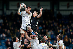 Castres Olympique Lock Piula Faasalele wins a lineout against Wasps Lock Bradley Davies - Photo mandatory by-line: Rogan Thomson/JMP - 07966 386802 - 14/12/2014 - SPORT - RUGBY UNION - High Wycombe, England - Adams Park Stadium - Wasps v Castres Olympique - European Rugby Champions Cup Pool 2.