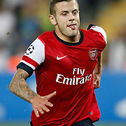Arsenal's Jack Wilshere during the UEFA Champions League Play-Offs First leg soccer match Fenerbahce between Arsenal at Sukru Saracaoglu stadium in Istanbul Turkey on Wednesday 21 August 2013. Photo by Aykut AKICI/TURKPIX